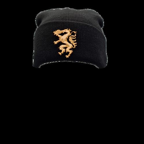 Haube mit Holz Panther Emblem
