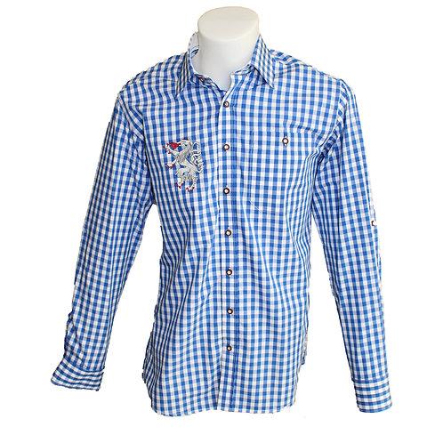 Modernes kariertes Trachten Hemd
