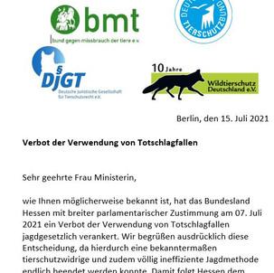 Tierschutzverbände fordern Verbot der Fallenjagd