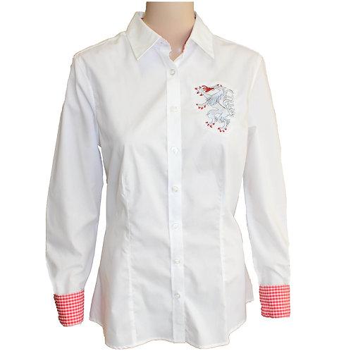 Moderne einfärbige Trachten Bluse
