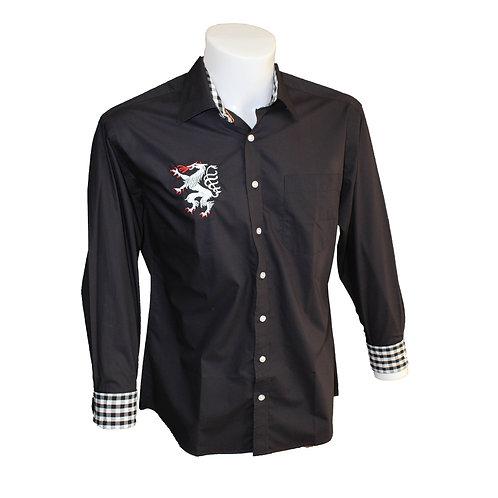 Modernes einfärbiges Trachten Hemd