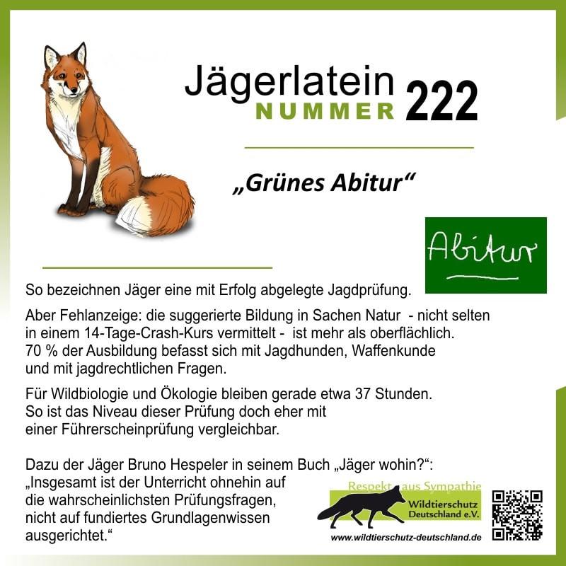 "Jägerlatein ""Grünes Abitur"""
