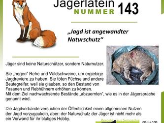 Jägerlatein: Jagd und Naturschutz