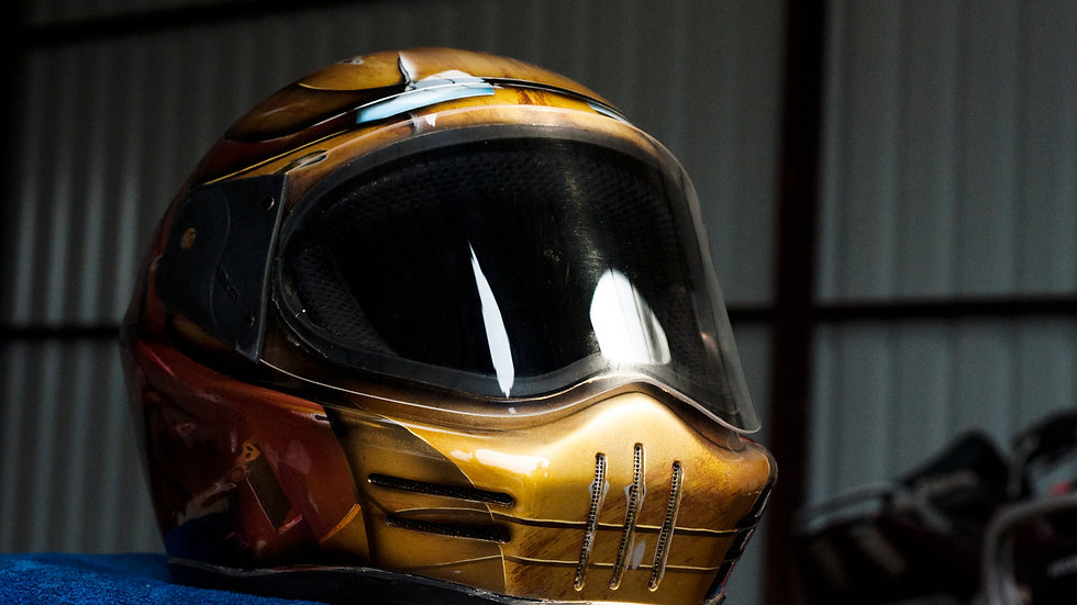 Custom Painted helmet (Iron Man theme)
