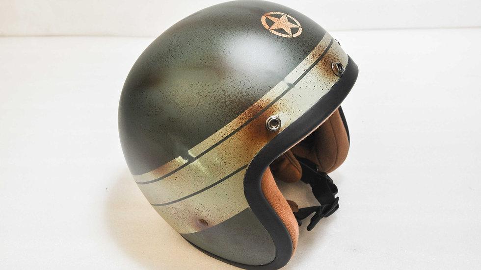 Garage themed Custom Painted Open face helmet