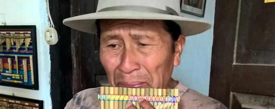 Pan-flute musician