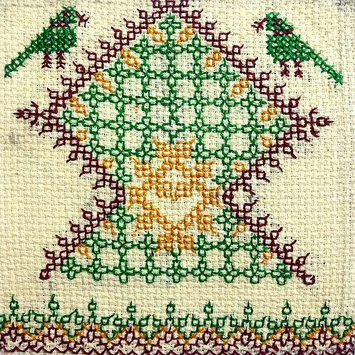 Kasuti Hand Embroidered Design