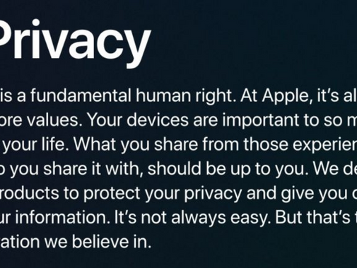 How do you think about data privacy?