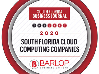 Barlop Makes South Florida Business Journal THE LIST for 2020 Cloud Computing Companies