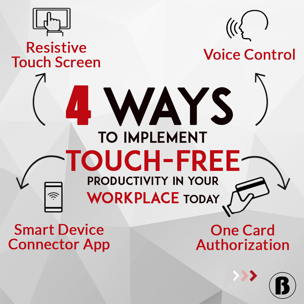 touch free workplace voice control