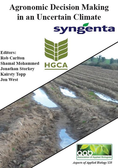 Aspects 125: Agronomic Decision Making In An Uncertain Climate