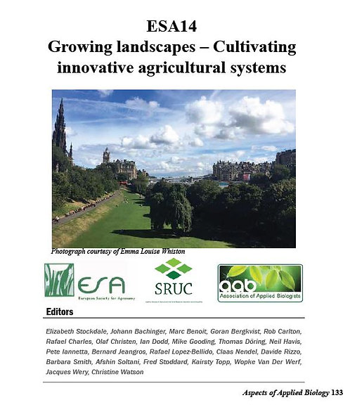 Aspects 133: ESA14 Growing Landscapes - Cultivating Innovative Agricultural Sy