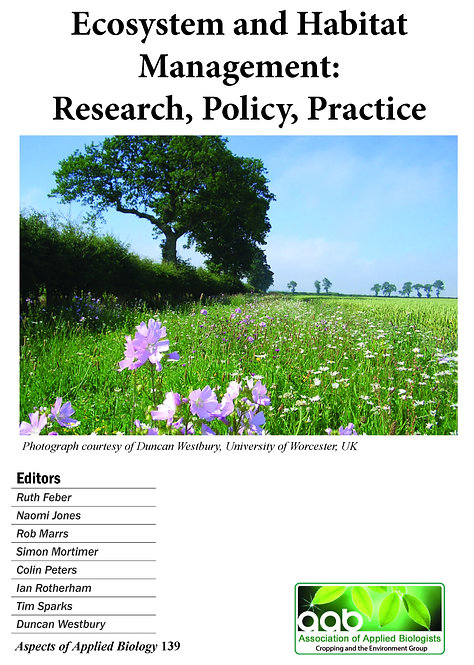 Aspects 139: Ecosystem & Habitat Management: Research, Policy, Practice