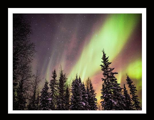 Aurora metallic 16x20 print with frame