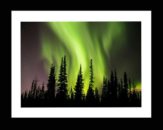 Aurora 8x10 print in 11x13 frame