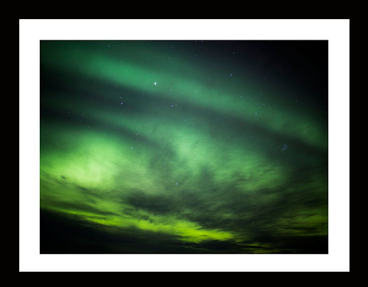 Aurora 11 x 14 metallic print with 15x18 frame