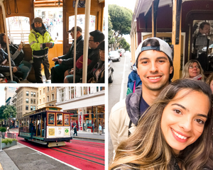 San Francisco cable car photo collage