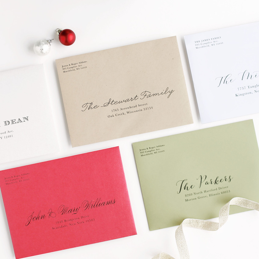colored invitations and cards envelopes