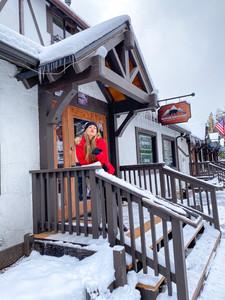 snowy day in Big Bear Lake