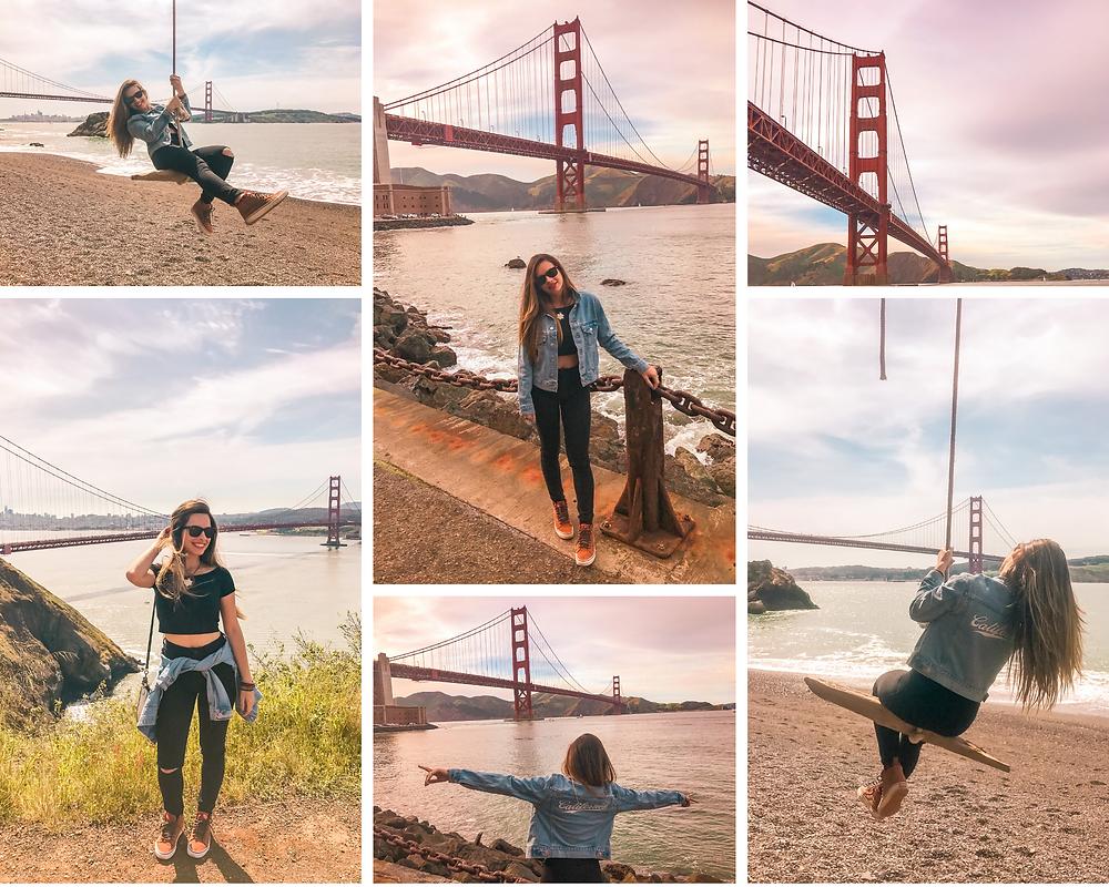 Golden Gate Bridge viewpoints photo collage