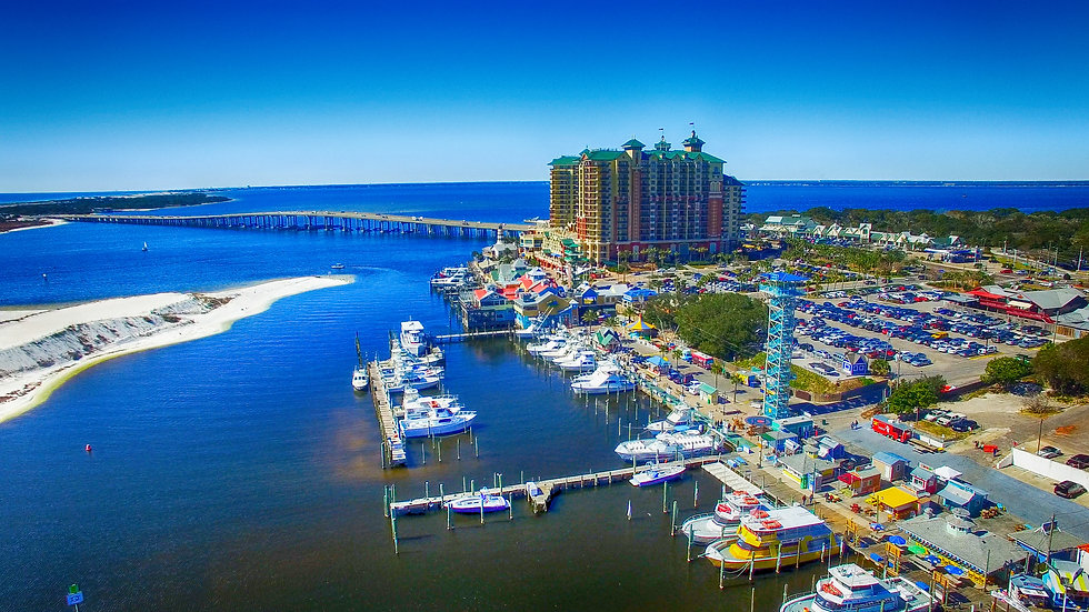 Destin, Florida. Aerial view of beautifu