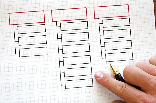 Business strategy organizational charts