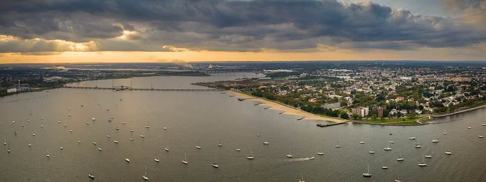 Pano Aerial of Perth Amboy New Jersey .j