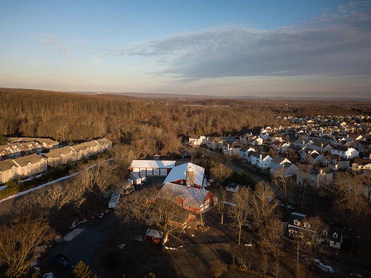 Aerial of Sunrise in Franklin Park New J