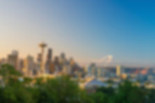 View of downtown Seattle skyline in Seat