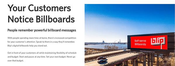 blip digital billboard
