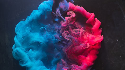 Ink water explosion. Harmony balance. Bl