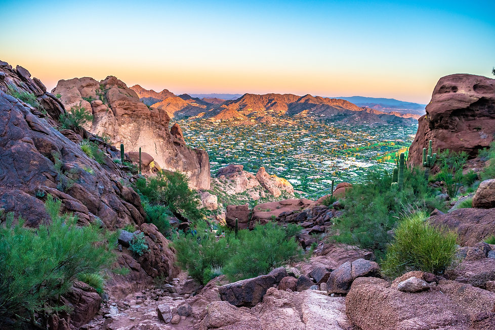 Colorful Sunrise on Camelback Mountain i