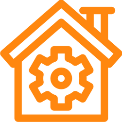house with gear