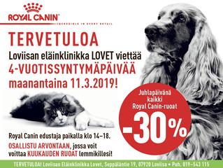 Royal Canin edustaja paikalla LOVET:issa 11.3