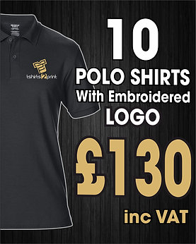 10 x Polos with Embroidrered LOGO