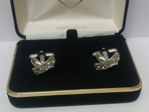 Diamond Crossover Cufflinks