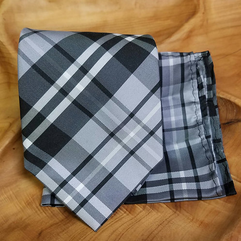 Monochrome Plaid Gift Set