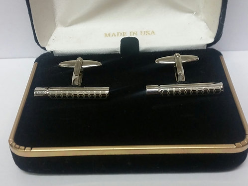 Skinny Silver Bar Cufflinks