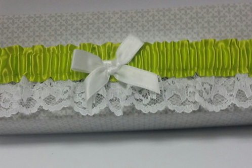 Chartreuse Lace Garter