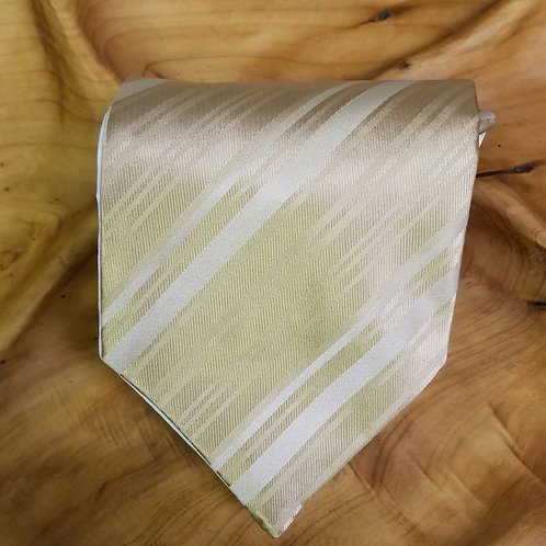 Golden Pre-tied Striped Tie