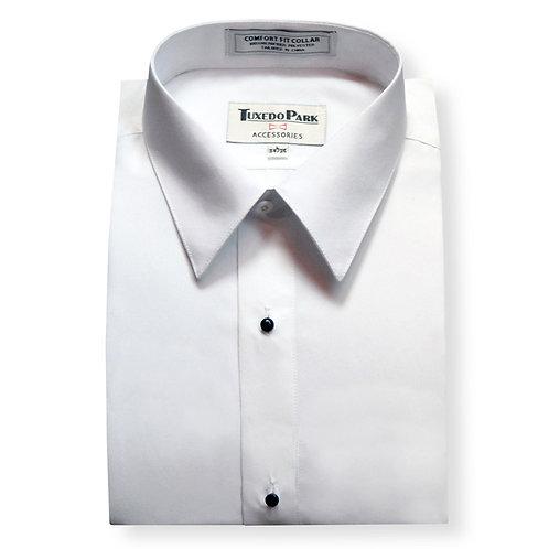 White Microfiber Laydown Shirt