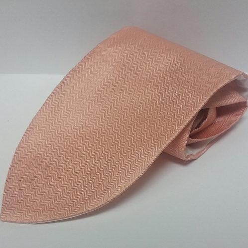 Peach Herringbone Tie