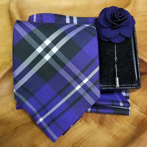 Purple Plaid Gift Set