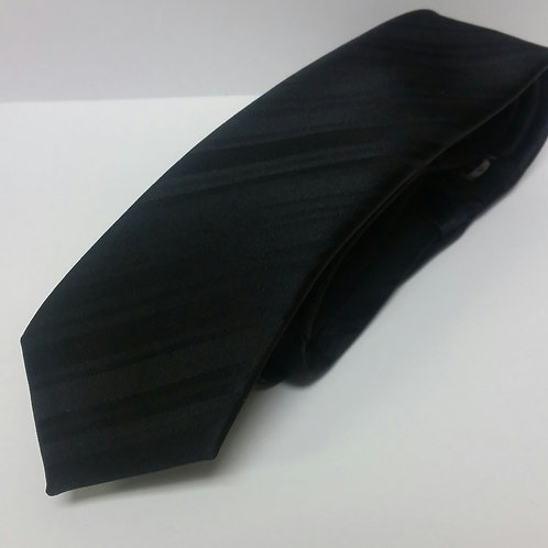 Black Tone on Tone Self-Tie