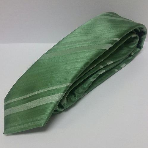 Green Tone on Tone Self-Tie