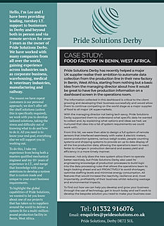 Advert for Pride Solutions