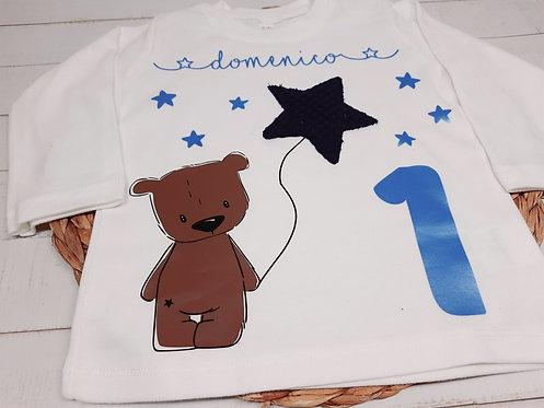 Geburtstags-Shirt Langarm nach Wahl z.B. Bär, ab