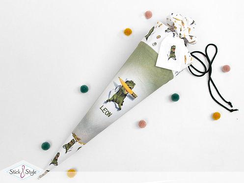 Schultüte Dino Stift aus Stoff mit Name personalisierbar, ab