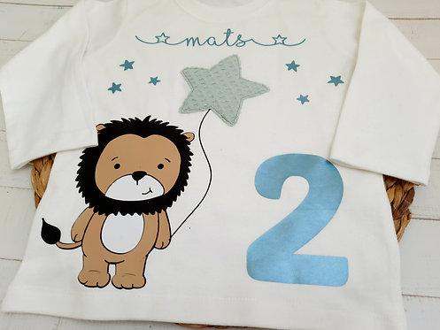 Geburtstags-Shirt T-Shirt nach Wahl z.B. Löwe, ab