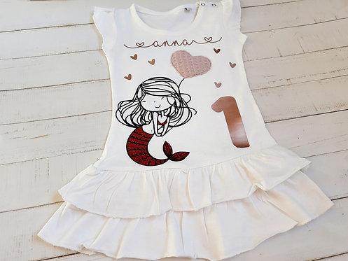 Geburtstags-Kleid Motiv nach Wahl, z.B. Meerjungfrau, ab